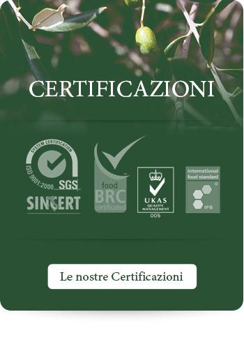 Le nostre certificazioni di qualità